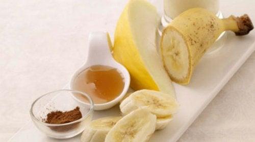 banan, kanel och honung
