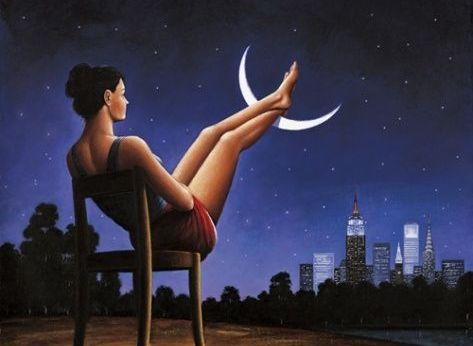 Kvinna och månen