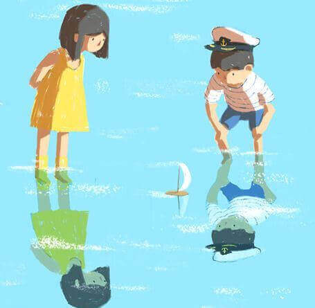 Reflektion i vatten
