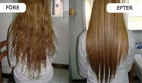 rakt hår