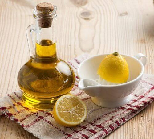 olivolja och citron