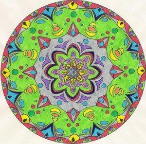 färgrann mandala
