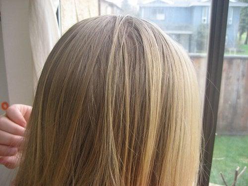 vinäger i håret