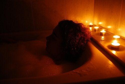 Person i badet