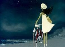 Kvinna och cykel