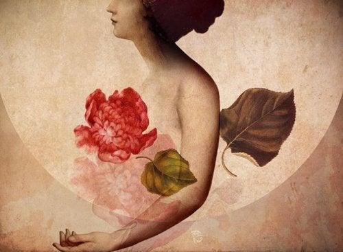 kvinna-och-blomma