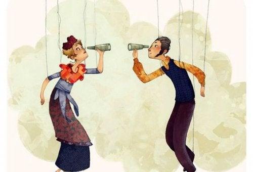 marionetter med kikare
