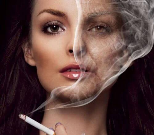 rökning förstör utseendet