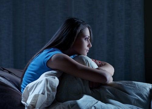 Sömnlös kvinna