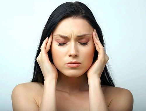 kvinna med stress