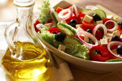 Sallad med olivolja
