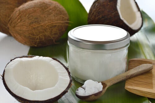 kokosolja för mer volym