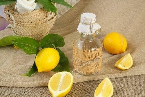 Citron för rengöring av glas
