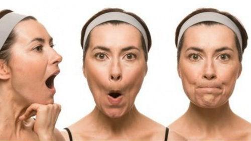 träna upp ansiktsmusklerna