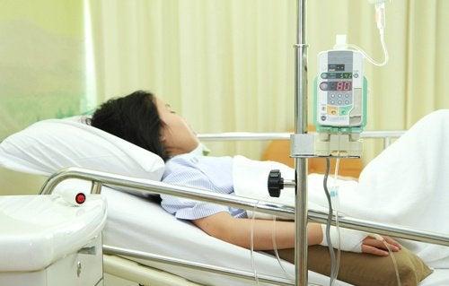 Kvinna med toxiskt chocksyndrom