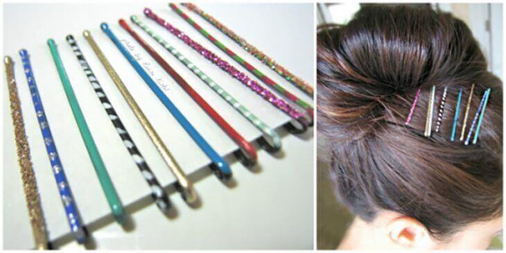 dekorera hårspännen