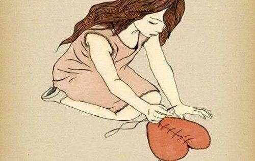 flicka syr hjärta