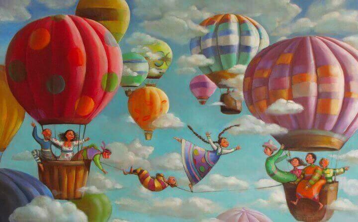 flygande ballonger