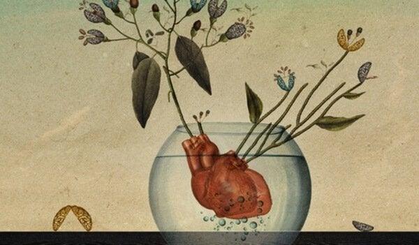 hjärta i skål
