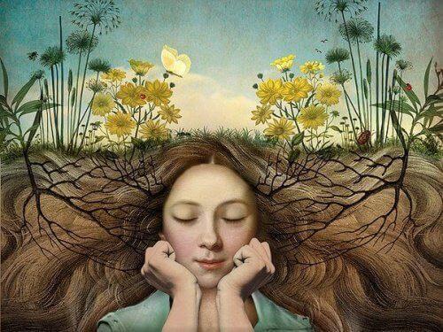 kvinna under jord