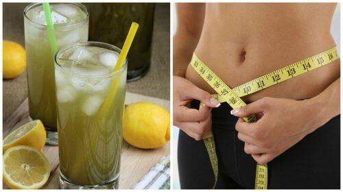 Hur man gör en lemonad med grönt te för viktnedgång