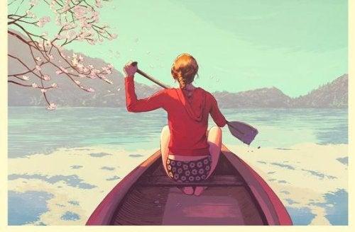 paddlande-kvinna