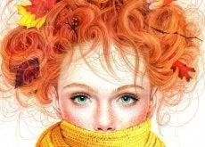 Flicka med scarf