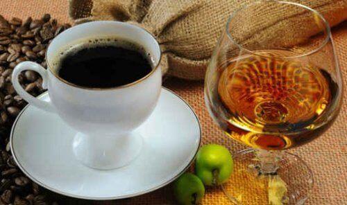 kaffe och alkohol