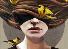 kvinna-med-faglar