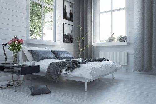 sovrum som är ventilerat