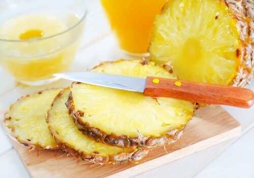 Skivad ananas