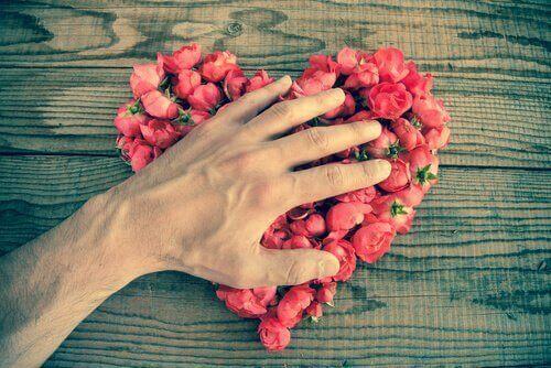 Hjärta av blommor