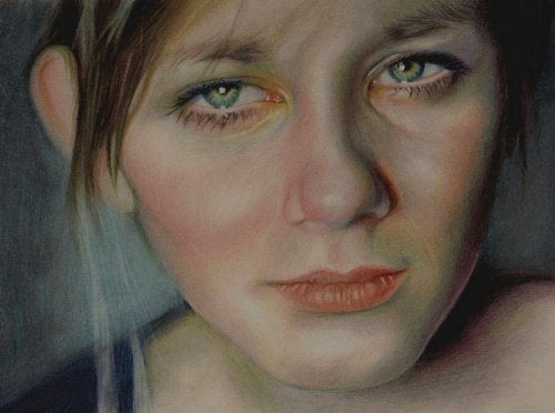 Kvinna med depression