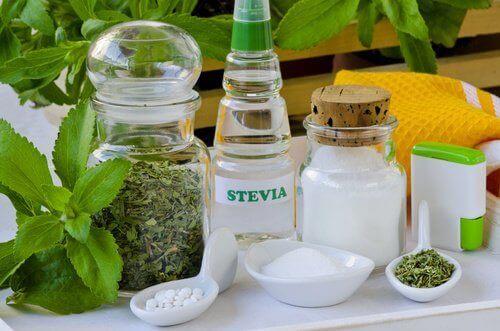 Stevia i olika former