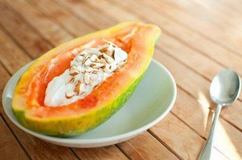 papaya till frukost