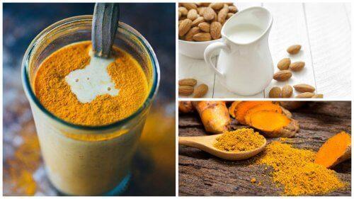 Antiinflammatorisk dryck med gurkmeja & mandelmjölk