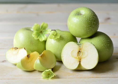Uppskuret äpple