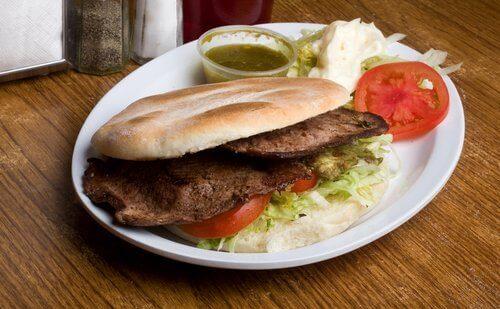 Magert kött på smörgås