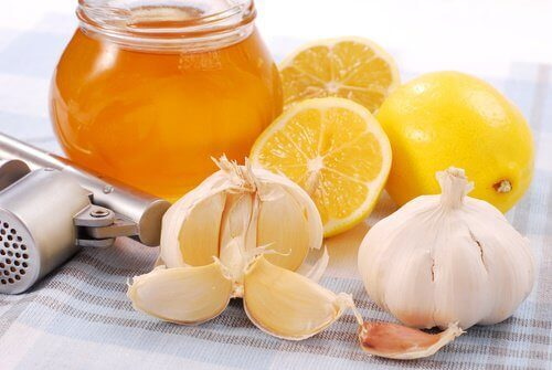 ingefära citron honung vitlök