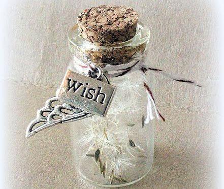flaska med önskningar