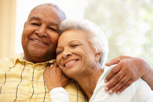 Personer med gråa hår