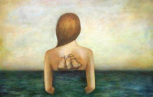 skepp och kvinna