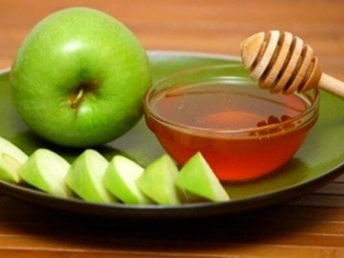 Äpple och honung är ett slemlösande medel