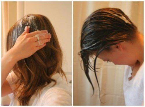 kokosolja hår användning