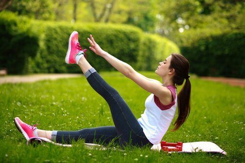 Benlyft för att stärka ryggen