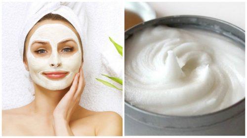 Få bort märken med en ansiktsmask på aspirin & yoghurt