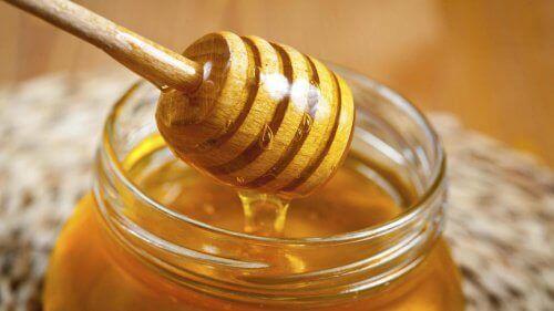 Honung innehåller mycket energi