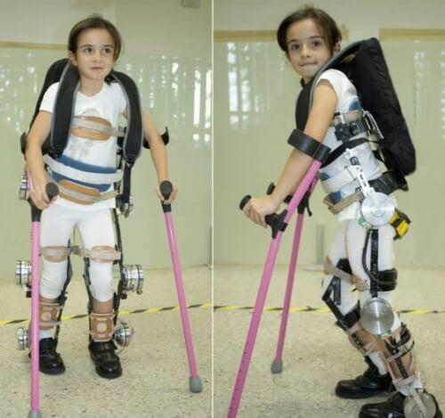 Barn med exoskelett
