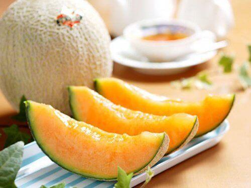 Skivad melon
