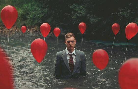 Ballonger i flod